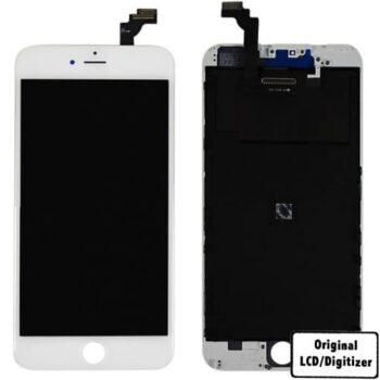 iPhone 6+ - LCD/Digitizer - Original - Hvid